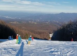外スキーに乗る練習