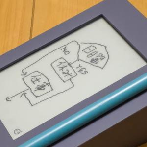 電子ペーパーでアラーム設定が出来るメモ帳 カクミルが届く