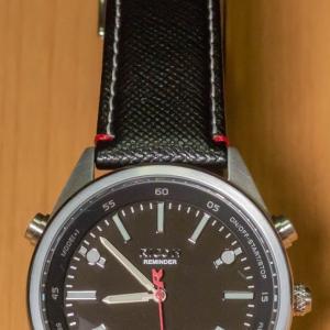 振動アラーム付きのアナログ腕時計 リコー リマインダー を購入 レビュー