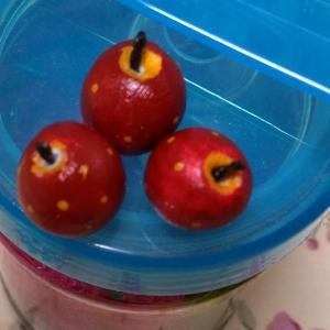 趣味の時間~ミニチュアフード*りんご~
