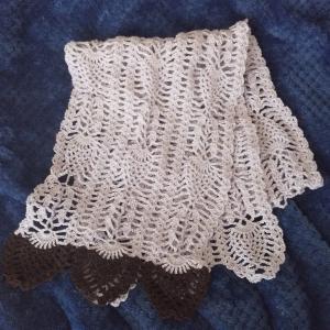 趣味の時間~毛糸だま夏号*パイナップル編みのショール~