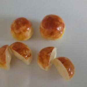 趣味の時間~ミニチュアフード*丸型クリームパン~