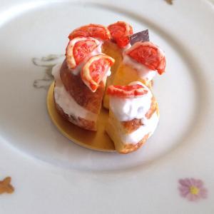 趣味の時間~ミニチュアフード*オレンジシフォンケーキ~