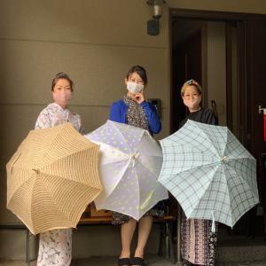 みんなで日傘作り❣️