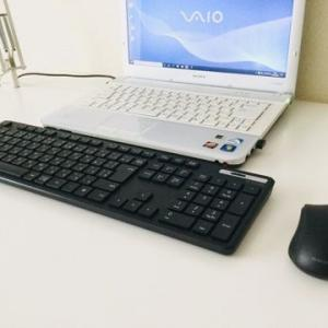 ノートPC にエレコムのワイヤレスキーボードとマウスを接続して使う