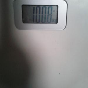 もう少しで100キロを切る