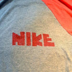t448/NIKE ゴツナイキ ラグラン 七分丈Tシャツ 美品 サイズMぐらい 売約済み