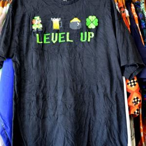 t745/スーパーマリオ Tシャツ パロディ?ルイージ 美品 サイズXL