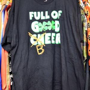 t782/FULL OF GOOD CHEER BEER ST. PATRICK'S DAY IRISH FEST BLACK Tシャツ デッドストック サイズ3XL