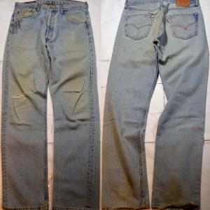 t663/LEVIS501アメリカ製 MADE IN U.S.A. 激渋クラッシュ !'95.6
