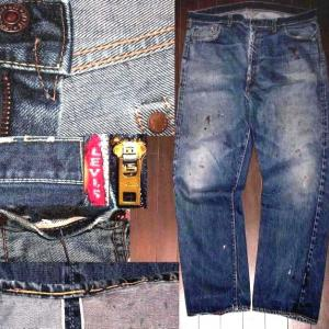 103)LEVIS551ZXX超激シブペンキ!大きめヴィンテージ 売約済み
