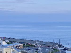 海を俯瞰する風景。