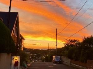 夕焼けがきれいでした。
