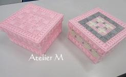 ピンク刺繍