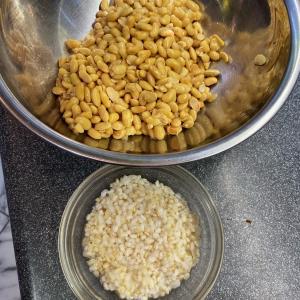 玄米から作る納豆