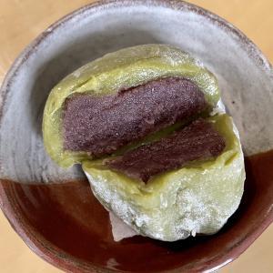 抹茶風味の大福は豆腐入り