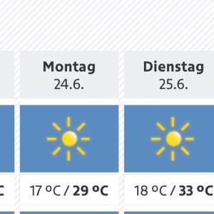 来週はオーストリアでも36度!