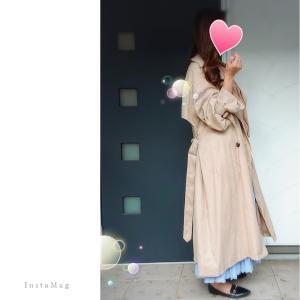 Coordinate*キャンディスリーブトレンチコート×新たに追加購入したプリーツスカート。