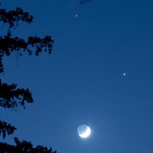 土星と木星と月