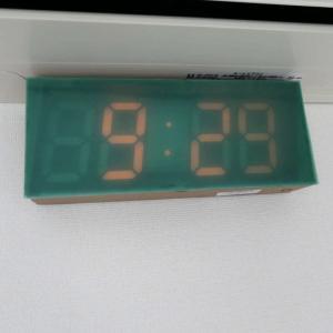 眩しすぎるLED時計、とりあえず対策