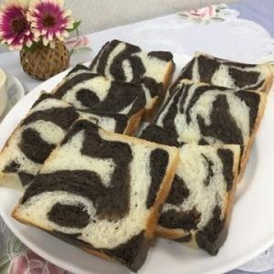 明太フランスとゼブラ食パン…コープカルチャーパン教室