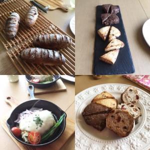 酒種酵母のパンオフリュイとスコーン2種