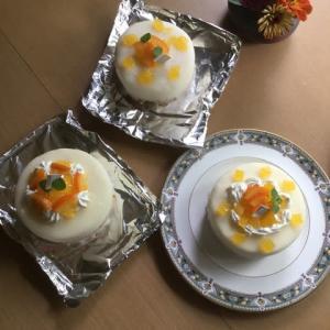 オレンジとモカの求肥ケーキレッスン