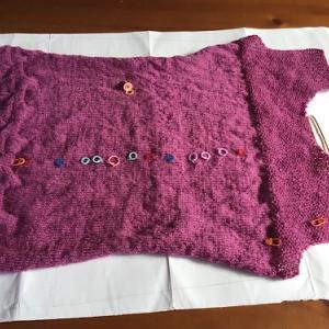 今頑張っている編み物