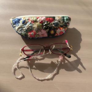 パッチワークのメガネケース