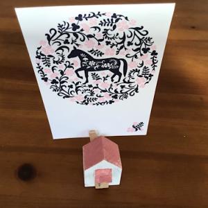 リサイクル&お家の形の手作りカードスタンド