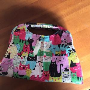 猫柄のバッグを作る