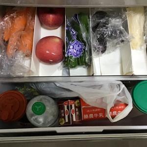 冷蔵庫の整理ビフォー・アフターの写真