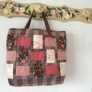チェック柄を使ったバッグが完成しました。