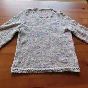 仕上がったセーター