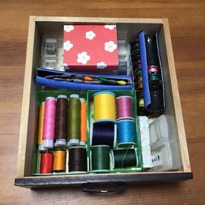 ミシン用お道具箱の整理