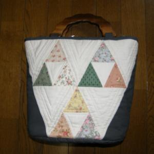三角形を使ったバッグ