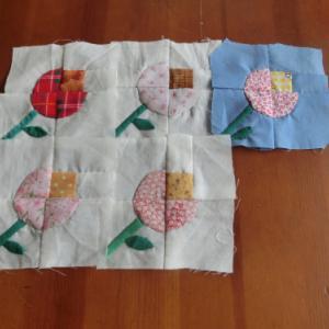 花のパッチワークバッグ