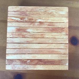 汚部屋脱出の一歩&アイスの棒で木箱を作る