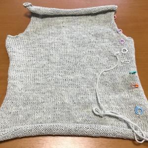 スマホの電話帳の削除&セーターを編む