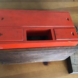 手作り木箱を捨てずに裁縫箱にする工夫