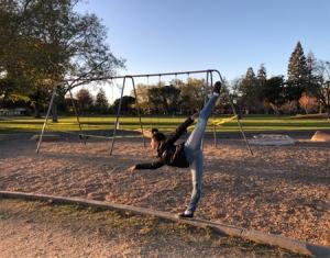 自粛中、久々の公園にて