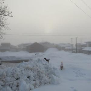 今季初めてのかた雪