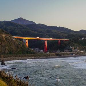 米山大橋夕景