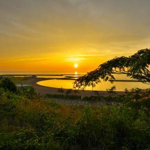 東の輪夕日
