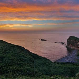 笠島の夕景