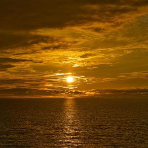 上輪の夕景