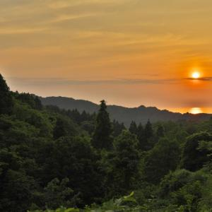 米山地区からの夕日