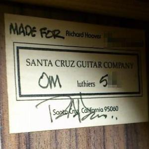Santa Cruz Guitar Campany の丁寧な対応に感謝