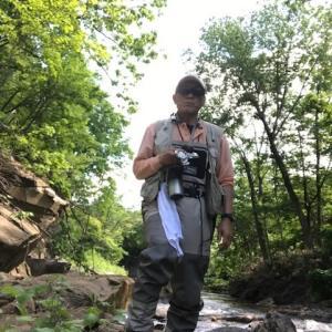 真駒内川で今季初の餌釣り