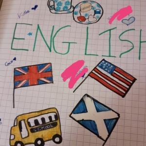 英語の宿題のお手伝い。